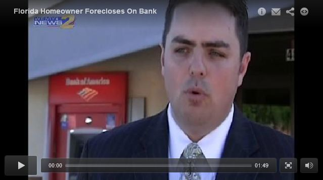 Homeowner Forecloses On Bank. Courtesy of DigTriad.com / WFMY 2 News
